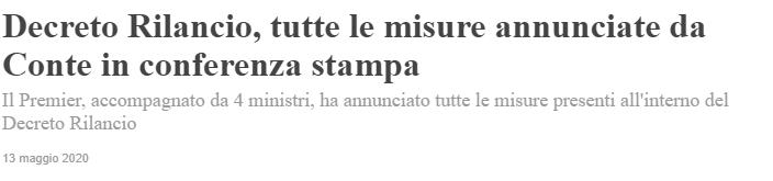 Bonus Pubblicità 2020 Decreto rilancio Cura Italia - Covid19